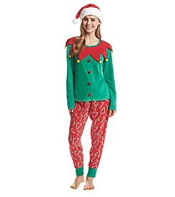 Zoe & Bella @BT Fleece Elf and Candycanes Pajama Hat