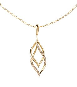 10k Yellow Gold With 0.10 Ct. T.W. Diamond Pendant