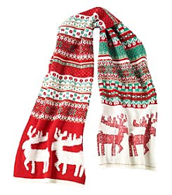Collection 18 Fairisle Reindeer Muffler Scarf