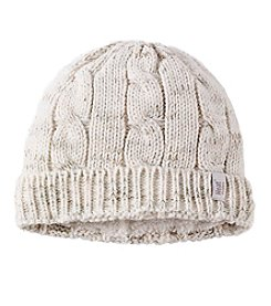 Heat Holders Cable Knit Flocked Hat