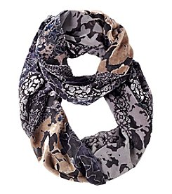 Collection 18 Printed Velvet Burnout Loop Scarf