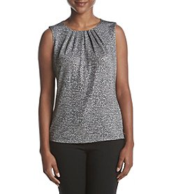 Calvin Klein Petites' Metallic Animal Print Top