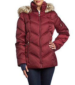 Nautica Short Quilted Down Coat