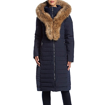 fc070a3b Calvin Klein Exaggerated Faux Fur Collar Coat | Bon-Ton