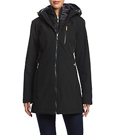 Calvin Klein Softshell Coat With Bib Insert