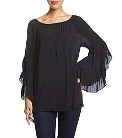 Fever Solid Drop Shoulder Top