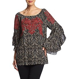 Fever Embroidered Top