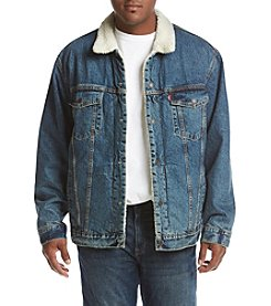 Levi's Men's Big & Tall Sherpa Trucker Go Set Jacket