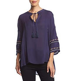 Penelope Rose Embroidered Peasant Top