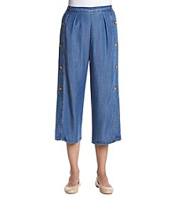 Catherine Malandrino Chambray Side Button Pants