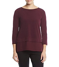 Ivanka Trump Sheer Layered Hem Top