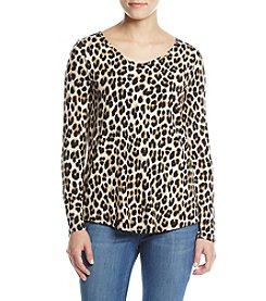 Cable & Gauge Leopard Print Top