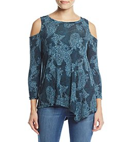 Fever Paisley Cold Shoulder Top