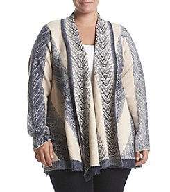Vintage America Blues Plus Size Mirabelle Striped Cardigan