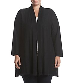 Fever Plus Size Sheer Pleated Back Cardigan