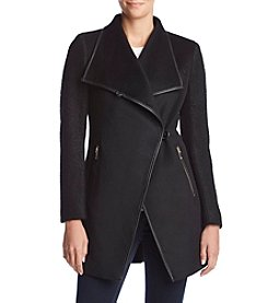 Calvin Klein Wool Wrap Button Coat