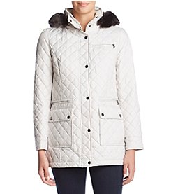 Calvin Klein Hooded Diamond Quilt Jacket