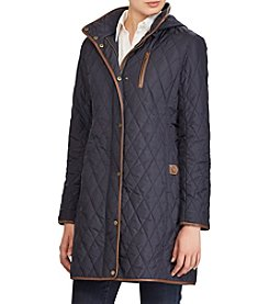 Lauren Ralph Lauren Diamond Quilted Jacket With Faux Leather