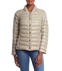 Via Spiga Snap Front Down Quilted Jacket