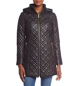 Via Spiga Diamond Quilted Hooded Jacket