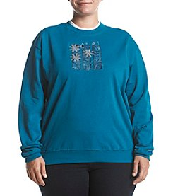 Morning Sun Plus Size Dandelions Fleece