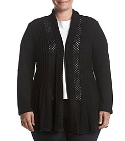 Studio Works Plus Size Solid Fan Tail Cardigan