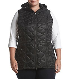 Calvin Klein Performance Plus Size Smocked Down Vest