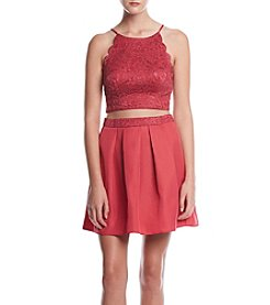 A. Byer 2 Piece Lace Top Party Dress