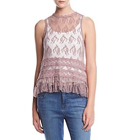Eyeshadow Allover Lace Tank Top