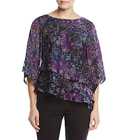 Alex Evenings Printed Blouse