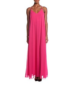 Nicole Miller New York Spaghetti Strap Maxi Dress