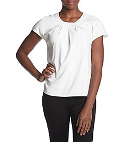 Calvin Klein Pleated Front Blouse