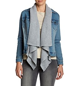 Ruff Hewn Sweater Drape Denim Jacket