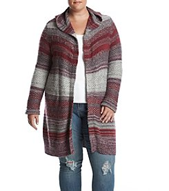 Ruff Hewn Plus Size Hooded Cardigan
