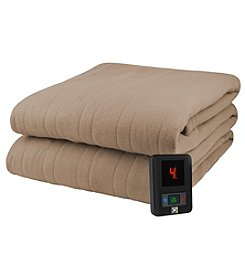Living Quarters Solid Color Electric Blanket with Control
