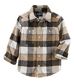 Oshkosh b' Gosh Boys' 2T-5T Long Sleeve Plaid Button Down Shirt