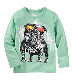 Oshkosh b' Gosh Boys' 2T-5T Long Sleeve Sup Dude? Shirt