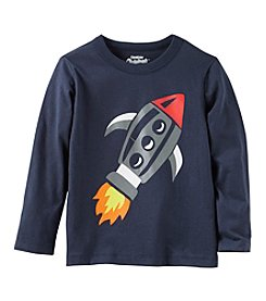 OshKosh B' Gosh Boys' 2T-5T Long Sleeve Rocket Shirt