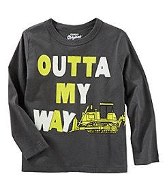 Oshkosh b' Gosh Boys' 2T-5T Long Sleeve Glow in the Dark Outta My Way Shirt