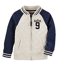 Oshkosh b' Gosh Boys' 2T-5T Quilted Full Zip Sweatshirt