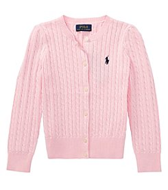 Polo Ralph Lauren Girls' 9M-16 Cable Knit Sweater