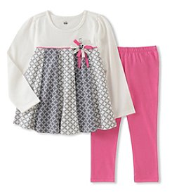 Kids Headquarters Baby Girls' 2 Piece Long Sleeve Tunic and Leggings Set