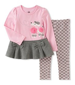 Kids Headquarters Baby Girls' 2 Piece Poodle Tunic and Leggings Set