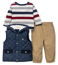 Little Me Baby Boys' 12M-24M 3 Piece Quilted Vest Set