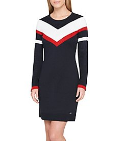 Tommy Hilfiger Midnight Combo Sweater Dress