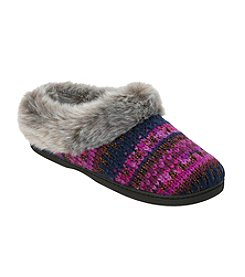Dearfoams Patterned Knit Clog Slippers