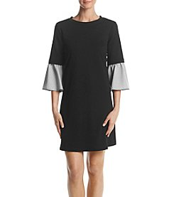Luxology Pinstripe Sleeve Shift Dress