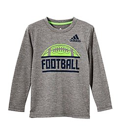 adidas Boys' 2T-7X Long Sleeve Sport Split Tee