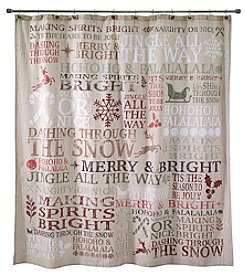 Avanti® Holiday Words Shower Curtain