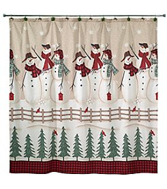 Avanti® Snowmen Gathering Shower Curtain